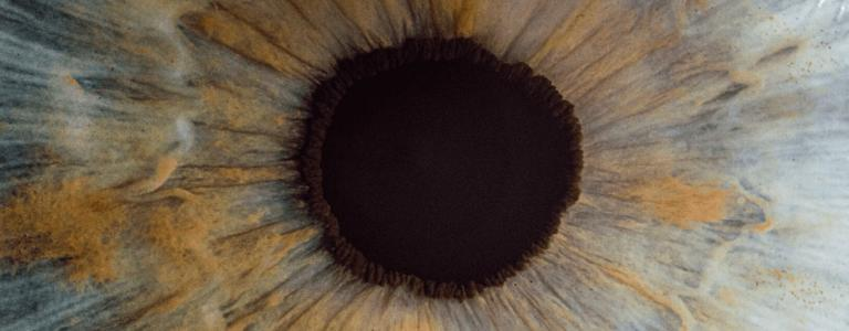 close shot of an eye